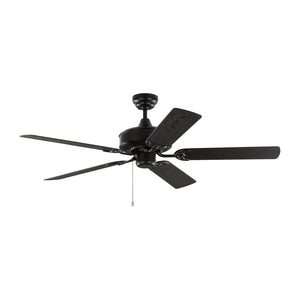 "Haven Outdoor 52"" Matte Black Outdoor Ceiling Fan by Monte Carlo Fans 5HVO52BK"