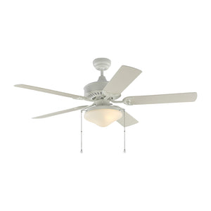 "Haven Outdoor Led 52"" Matte White Outdoor Ceiling Fan by Monte Carlo Fans 5HVO52RZWD"