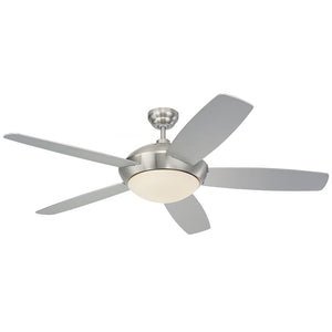 "Sleek Fan 52"" Brushed Steel Indoor Ceiling Fan by Monte Carlo Fans 5SLR52BSD-V1"