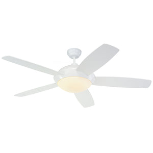 "Sleek Fan 52"" White Indoor Ceiling Fan by Monte Carlo Fans 5SLR52WHD-V1"