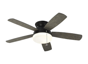 "Traverse Semi-Flush Fan 52"" Aged Pewter Indoor Ceiling Fan by Monte Carlo Fans 5TV52AGPD"