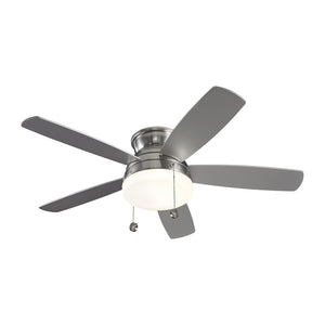 "Traverse Semi-Flush Fan 52"" Brushed Steel Indoor Ceiling Fan by Monte Carlo Fans 5TV52BSD"