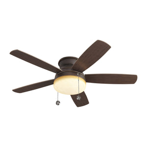 "Traverse Semi-Flush Fan 52"" Roman Bronze Indoor Ceiling Fan by Monte Carlo Fans 5TV52RBD"