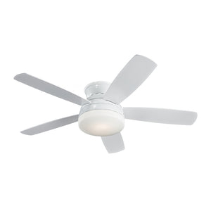 "Traverse Semi-Flush Fan 52"" White Indoor Ceiling Fan by Monte Carlo Fans 5TV52WHD"