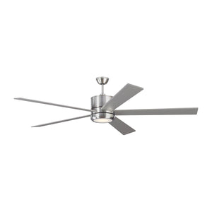 "Vision 72"" Brushed Steel Indoor Ceiling Fan by Monte Carlo Fans 5VMR72BSD"