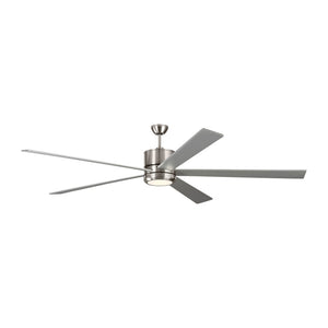 "Vision 84"" Brushed Steel Indoor Ceiling Fan by Monte Carlo Fans 5VMR84BSD"