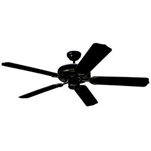 "Weatherford Outdoor Fan 52"" Matte Black Outdoor Ceiling Fan by Monte Carlo Fans 5WF52BK"