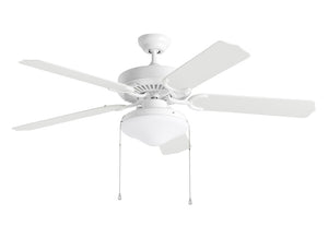"Weatherford Deluxe Outdoor Fan 52"" White Outdoor Ceiling Fan by Monte Carlo Fans 5WF52WHD-L"