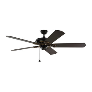 "York 60"" Matte Black Indoor Ceiling Fan by Monte Carlo Fans 5YK60BK"