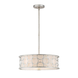 Triona 3 Light Semi-Flush  in Silver Leaf Finish by Savoy House 6-1162-3-34