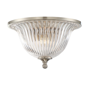 Aberdeen 2 Light Flush Mount  in Satin Nickel Finish by Savoy House 6-150-14-SN