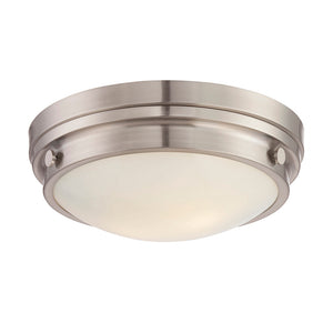 Lucerne 2 Light Flush Mount  in Satin Nickel Finish by Savoy House 6-3350-14-SN