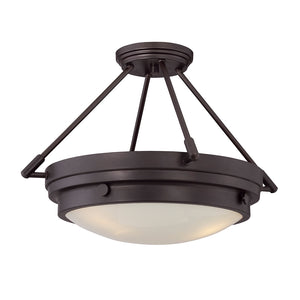 Lucerne 3 Light Semi-Flush  in English Bronze Finish by Savoy House 6-3351-3-13