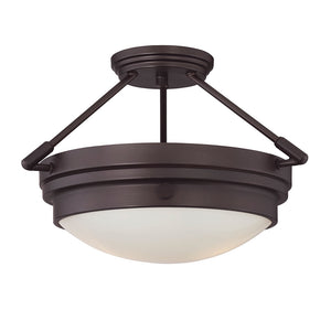 Lucerne 2 Light Semi-Flush  in English Bronze Finish by Savoy House 6-3352-2-13