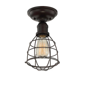 Scout 1 Light Semi-Flush  in English Bronze Finish by Savoy House 6-4135-1-13