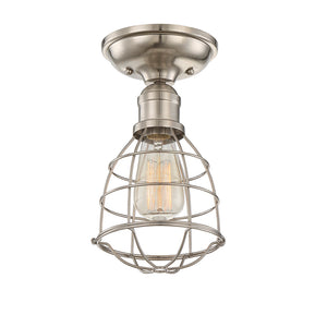 Scout 1 Light Semi-Flush  in Satin Nickel Finish by Savoy House 6-4135-1-SN