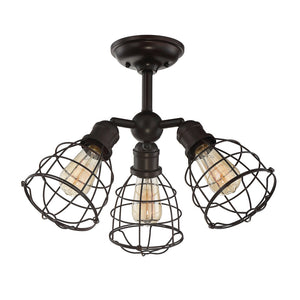 Scout 3 Light Semi-Flush  in English Bronze Finish by Savoy House 6-4136-3-13