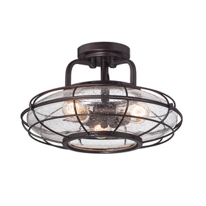 Connell 3 Light Semi-Flush  in English Bronze Finish by Savoy House 6-574-3-13