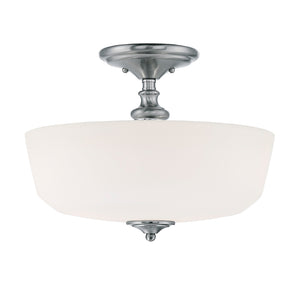 Melrose 2 Light Semi-Flush  in Polished Chrome Finish by Savoy House 6-6835-2-11