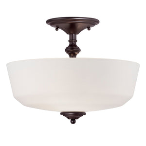 Melrose 2 Light Semi-Flush  in English Bronze Finish by Savoy House 6-6835-2-13