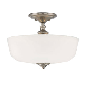Melrose 2 Light Semi-Flush  in Satin Nickel Finish by Savoy House 6-6835-2-SN