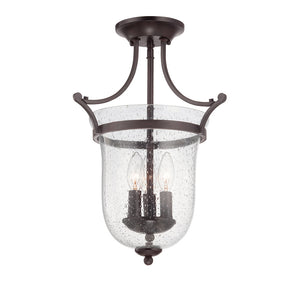 Trudy 3 Light Semi-Flush  in English Bronze Finish by Savoy House 6-7133-3-13