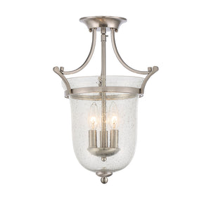 Trudy 3 Light Semi-Flush  in Satin Nickel Finish by Savoy House 6-7133-3-SN