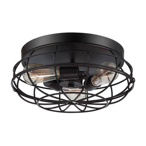 Scout 3 Light Flush Mount  in English Bronze Finish by Savoy House 6-8074-15-13
