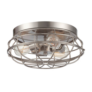 Scout 3 Light Flush Mount  in Satin Nickel Finish by Savoy House 6-8074-15-SN
