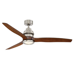 La Salle 1 Light Ceiling Fan  in Satin Nickel Finish by Savoy House 60-5025-3KO-SN