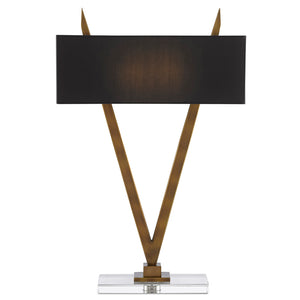 Willemstad Brass Table Lamp by Currey and Company 6000-0451
