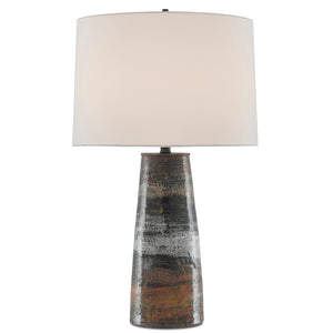 Zadoc Table Lamp in Terracotta/Natural/Cloud/Black by Currey and Company 6000-0571