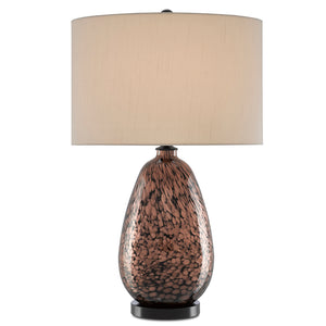 Tullia Table Lamp in Copper Metallic/Black by Currey and Company 6000-0578