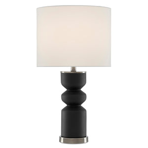 Anabelle Black Table Lamp in Black/Antique Nickel by Currey and Company 6000-0579