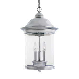 Hermitage 3 Light Outdoor Lighting in Antique Brushed Nickel Finish by Sea Gull 60081-965