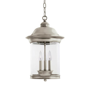 Hermitage 3 Light Outdoor Lighting in Antique Brushed Nickel Finish by Sea Gull 60081EN-965