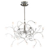 PLC Lighting 6030 SN Fusion Collection 20 Light Chandelier in Satin Nickel Finish