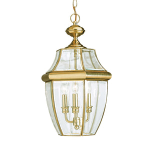 Lancaster 3 Light Outdoor Lighting in Polished Brass Finish by Sea Gull 6039-02