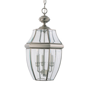 Lancaster 3 Light Outdoor Lighting in Antique Brushed Nickel Finish by Sea Gull 6039-965