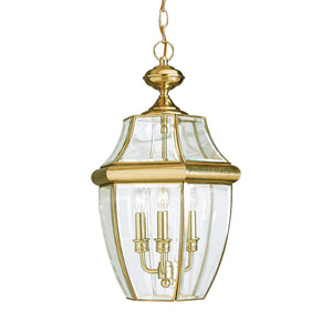 Lancaster 3 Light Outdoor Lighting in Polished Brass Finish by Sea Gull 6039EN-02