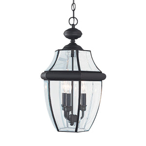 Lancaster 3 Light Outdoor Lighting in Black Finish by Sea Gull 6039EN-12