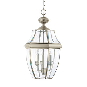 Lancaster 3 Light Outdoor Lighting in Antique Brushed Nickel Finish by Sea Gull 6039EN-965