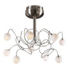 PLC Lighting 6039 SN Fusion Collection 9 Light Ceiling in Satin Nickel Finish