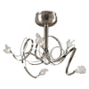 PLC Lighting 6049 SN Ribbon Collection 5 Light Ceiling in Satin Nickel Finish