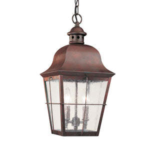 Chatham 2 Light Outdoor Lighting in Weathered Copper Finish by Sea Gull 6062-44