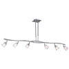 PLC Lighting 6073 SN Avatar Collection 6 Light Pendant in Satin Nickel Finish