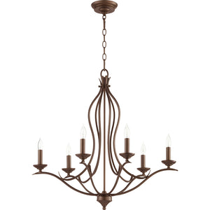 Flora 6 Light Ceiling Mount in Oiled Bronze Finish 613-6-86