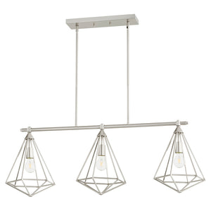 Bennett 3 Light Island Light in Satin Nickel Finish 6311-3-65