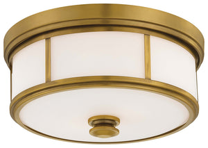 3 Light Flush Mount In Liberty Gold Finish by Minka Lavery 6368-249