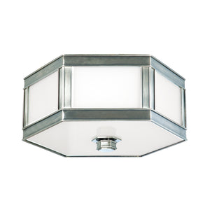 Nassau 1 Light Flush Mount By Hudson Valley 6410-HN in Historic Nickel Finish